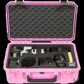 iSeries 2011-7 Dos DSLR con estuche de lentes (rosa)
